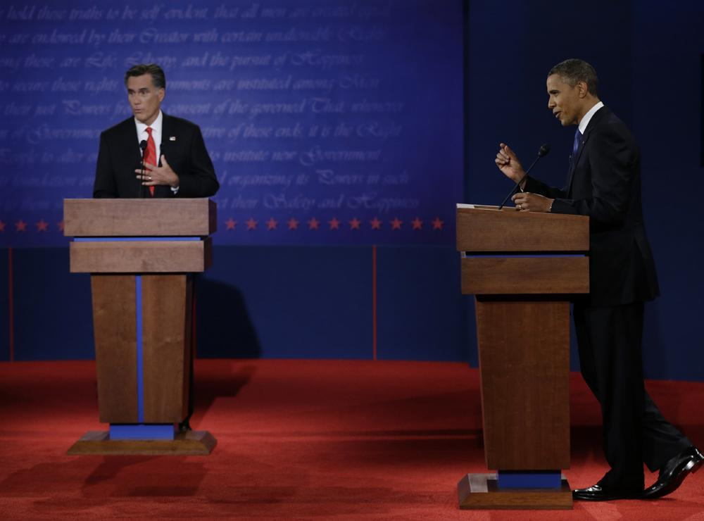 Romney+and+Obama+Clash+in+Denver