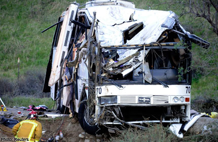California Tour Bus Crash Kills 7, Injures 30
