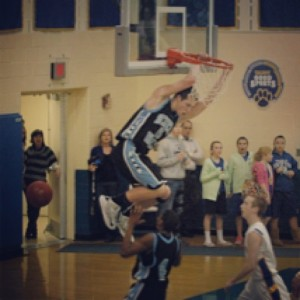 Bazzoli Breaks Backboard in Basketball Classic