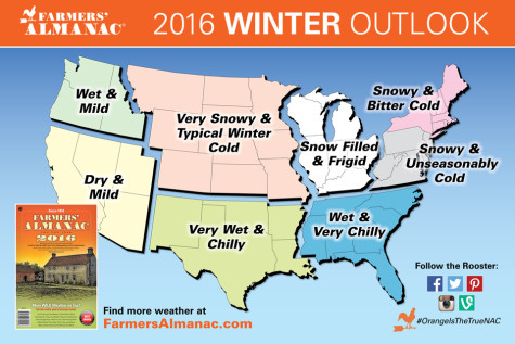 Winter 2016: El Nino vs. the Farmer's Almanac