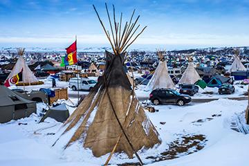 North Dakota protesters have frozen progress on pipeline installation