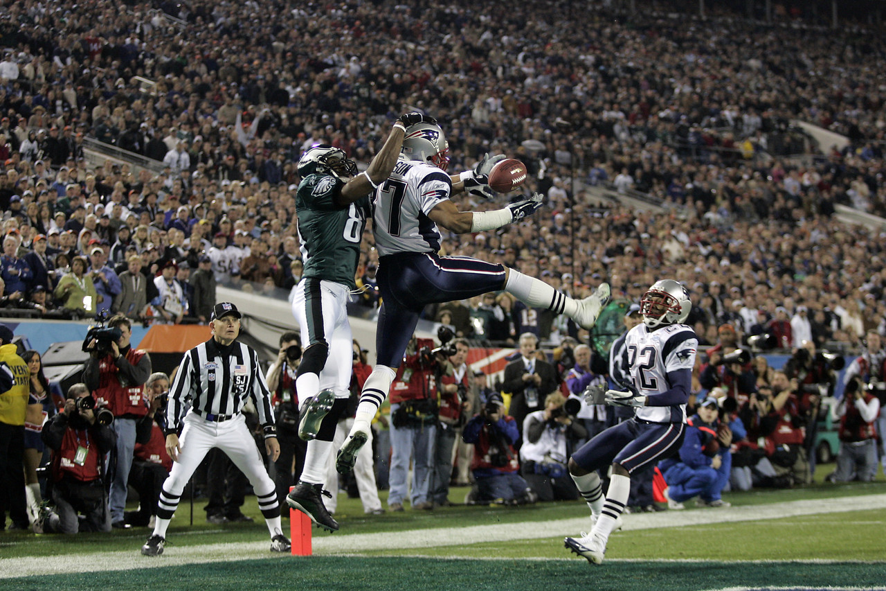The New England Patriots battle the Philadelphia Eagles in Super Bowl 39.