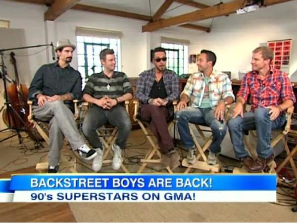 Backstreet Boys make major announcements on GMA on August 31, 2012.