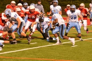 Raiders Prevail in Battle with Indians