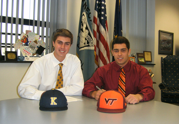Members of Seneca Valley's baseball team Sign Letters of Intent to Kent State and Virginia Tech