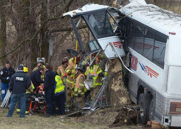 Bus Carrying Local College Lacrosse Team Crashes on Turnpike