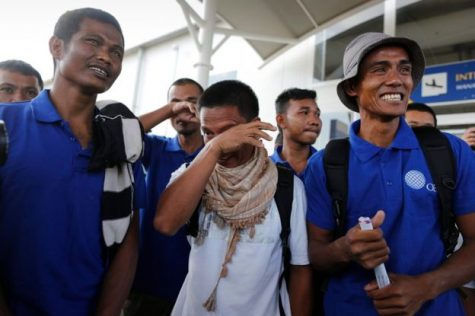Sailors freed from cruelty at the hands of Somali pirates
