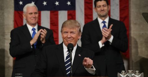 Another side of Trump during his address